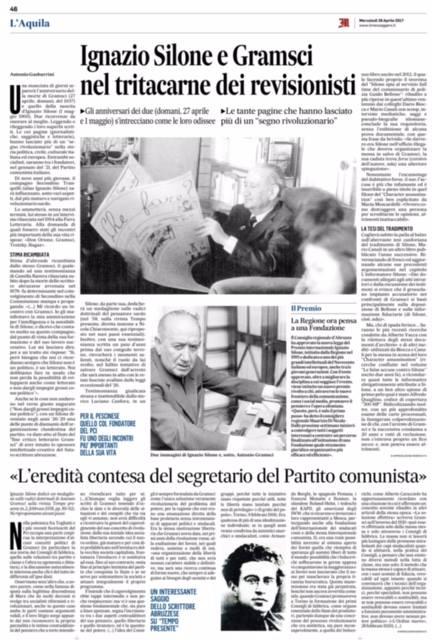 Il Messaggero Abruzzo 26 aprile 2017