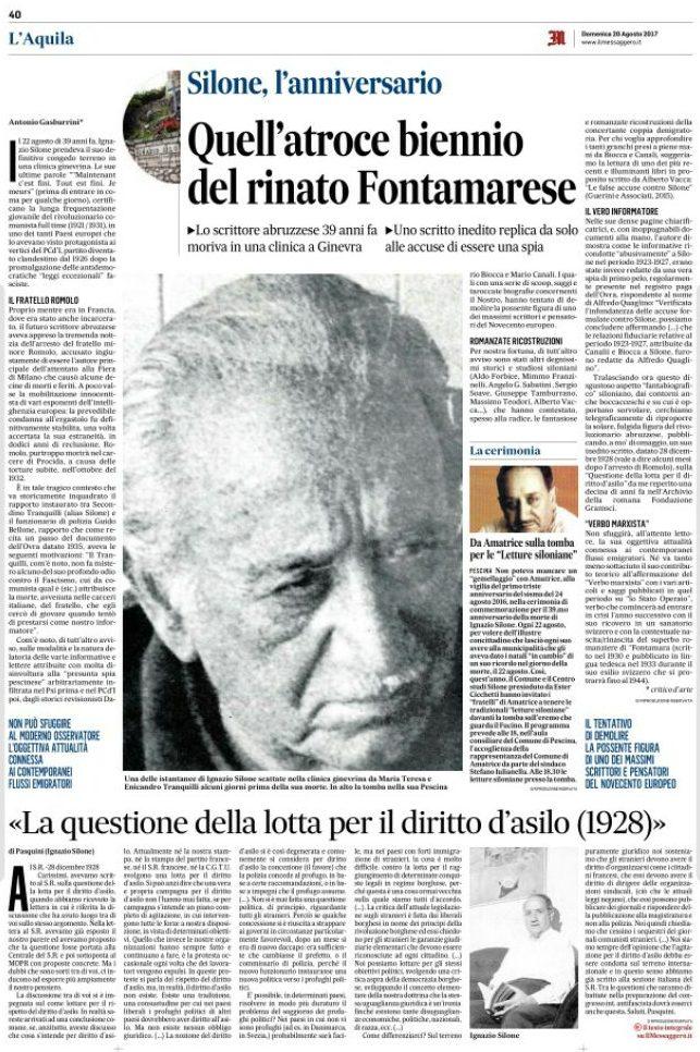 Il Messaggero Abruzzo 20 agosto 2017
